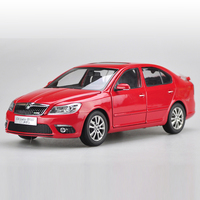 1:18 Diecast Model for Skoda Octavia RS 2014 Red Liftback Alloy Toy Car Miniature Collection Gifts VRS