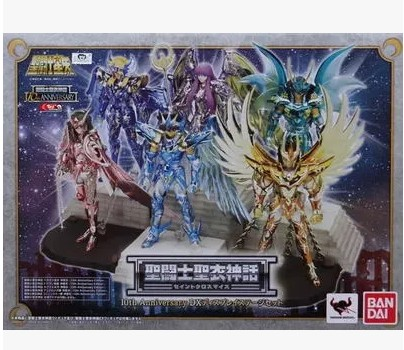 Bandai Saint Seiya Myth Cloth Pegasus cygnus shiryu shun Seiya God Cloth 10th Anniversary Display Stand Platform Action Figure new arrivial saint seiya athena god myth cloth 10th anniversary saori san action figure bandai cavaleiros do zodiaco brinquedos