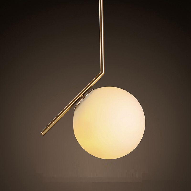 現代ガラス玉のペンダントランプノルディックライトランプ Led 照明 E27 照明器具シャンデリアサスペンション  グループ上の ライト & 照明 からの ペンダントライト の中 1