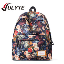 High Quality Women Flower Canvas Backpack Universe Printing Mochilas Bags For Teenagers Girls Ladies School Bag Casual Backpack