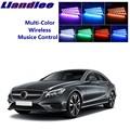 LiandLee светящиеся интерьерные напольные декоративные атмосферные огни неоновый свет для автомобиля Mercedes Benz CLS MB W219 C219 W218