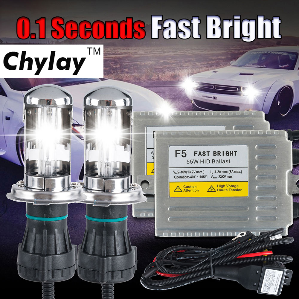 Buy C5 55w Canbus H4 Hid Bi Xenon Conversion Kit Suburban Highbeam Wiring Harness Hi Lo Beam Ac Fast Bright Ballast 4300k