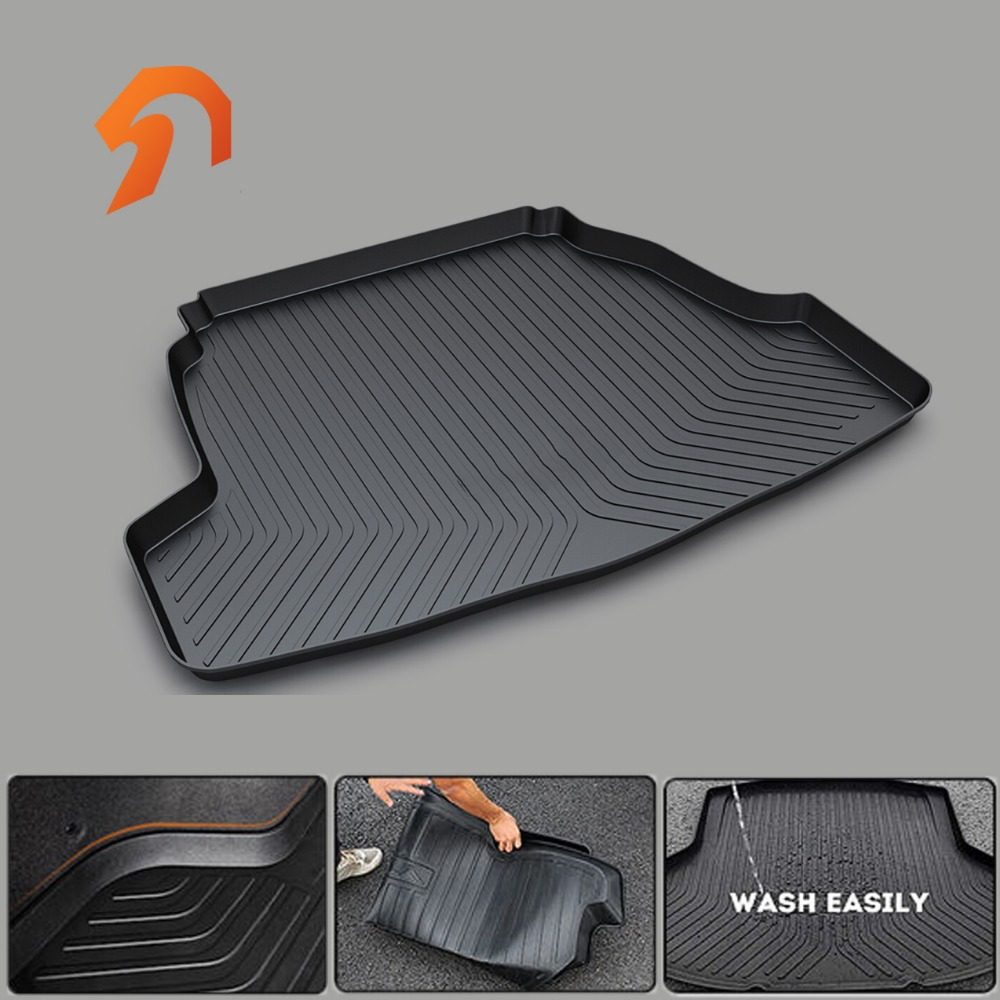Rubber Rear Trunk Cargo Tray Rear Trunk Cover Floor Mats for KIA SPORTAGE R KX3KX5K4K3 SORENTO CERATO RIO SOUL 2011-2017 high quality for kia sorento 2009 2010 2011 2012 rear trunk security shield cargo cover black