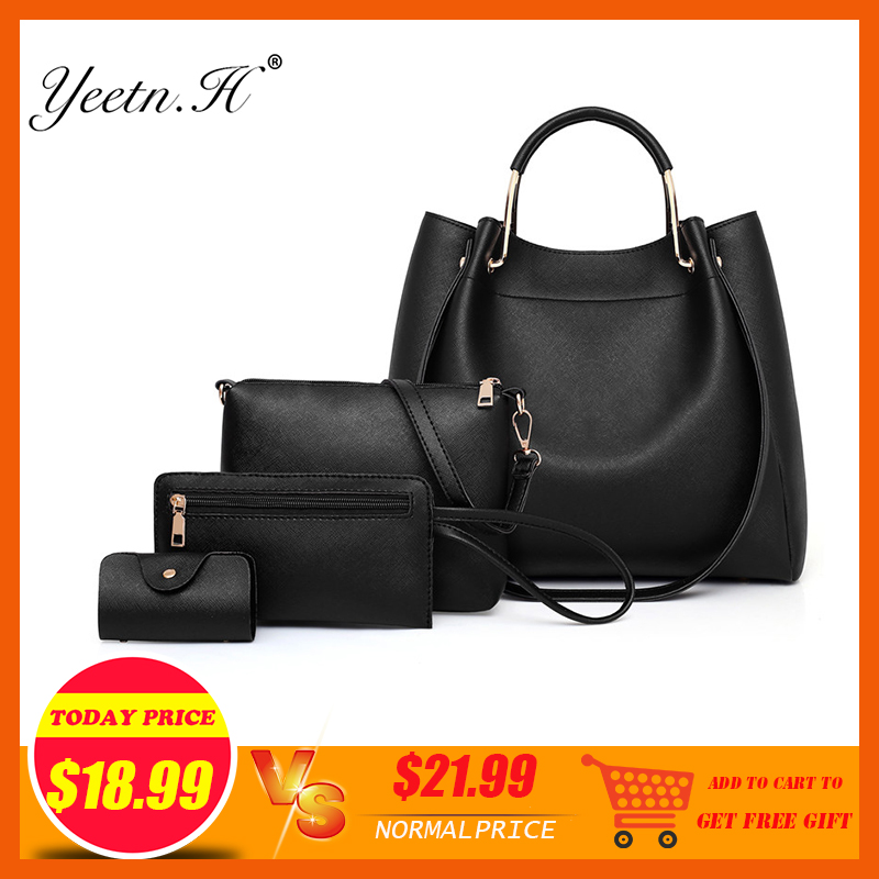 New Arrival Yeetn.H Bucket Pu Totes Handbags & Crossbody Bags Polyester Single Fashion Women Solid Zipper Soft None Versatile jiasna new women handbags soft pu ladies crossbody bags baobao european and american style versatile bags design fashion