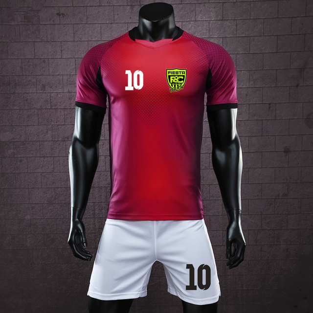 2018 new Men personality soccer jerseys blank training football set soccer uniform child Futbol suits customize logo name numbe
