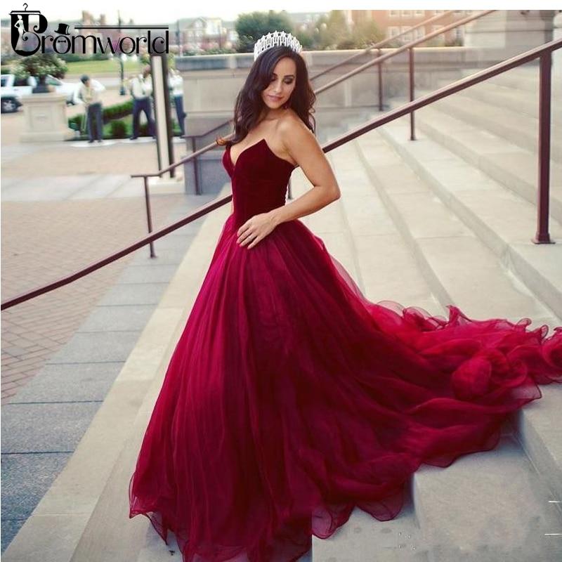 Romantic Burgundy Wedding Dress 2019 Sweetheart Ball Gown Vestido De Noiva Tulle Bridal Dress Plus Size Wedding Gowns