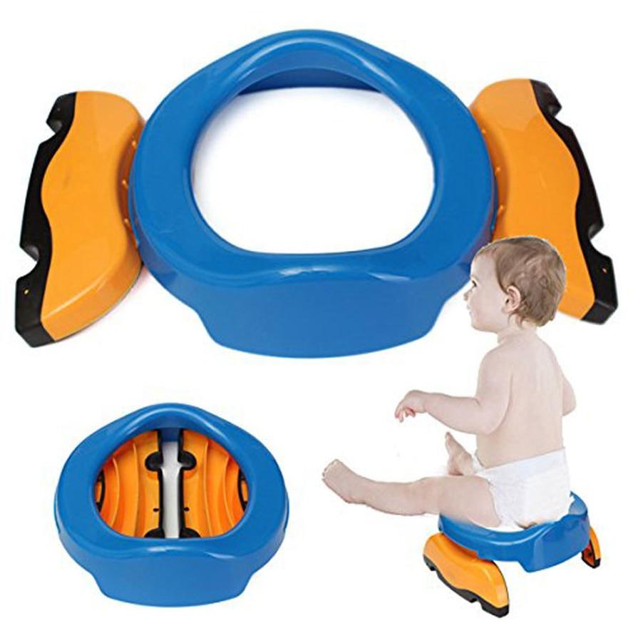Car Travel Portable Baby Potties Training Toilet Non slip Kids Toilet Seat Foldable Potty Chair Infant