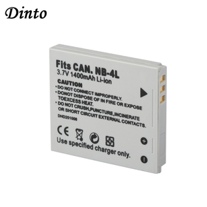 Dinto NB-4L 1400mAh Replacement Digital Camera Li-ion Battery Pack for Canon IXUS 30 40 50 55 60 65 70 75 NB4L NB 4L