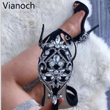 2019 New Fashion Women Sandals Sexy High Heels Night Club Shoes Size 40 41 42 wo19012