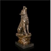 лучшая цена  Best  Selling  Bronze Wolf howlling sculptures bronze statue figurines Retro  home vintage decoration