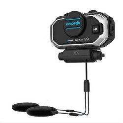 V8 Helmet Bluetooth Headset Intercom Motorcycle Stereo Headphones Communication Interphone