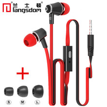 100% Original Langsdom Super Bass Headphones Stereo Earphone Hifi Headset With Microphone for Mobile phone for xiaomi iphone