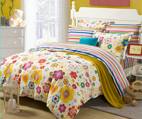 2016 new design 100 cotton yellow red flower bedding set queen size 2016 new design 100 cotton yellow red flower bedding set queen size bedding set printed bedsheet pillowcase duvet cover in bedding sets from home garden mightylinksfo