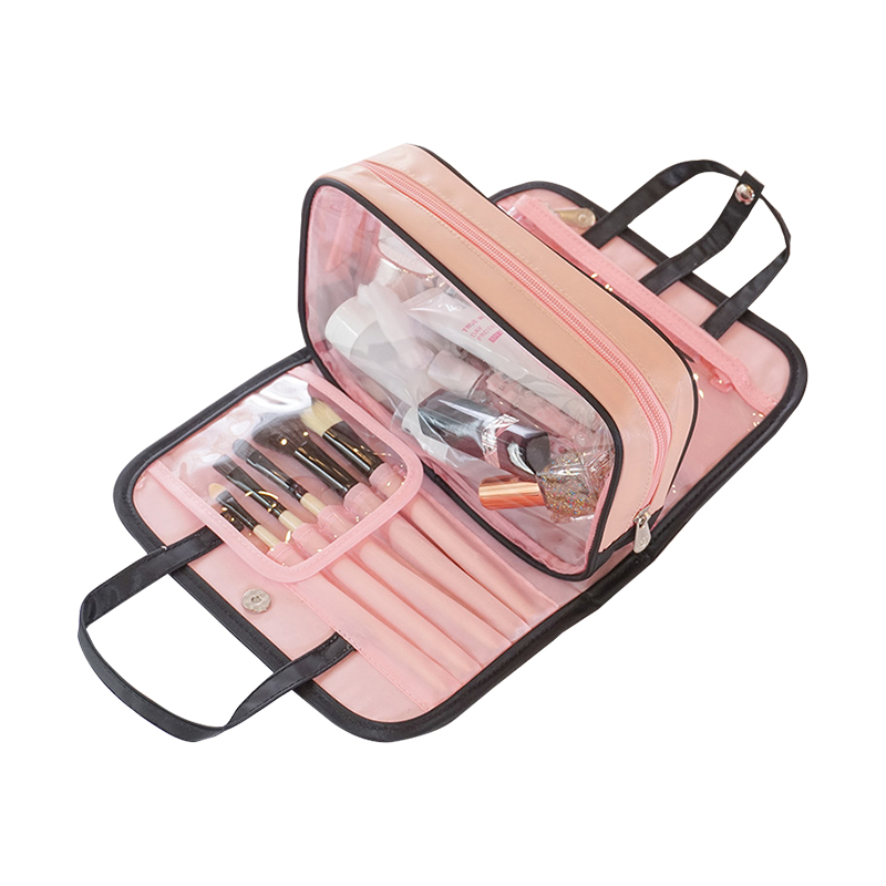 Casual Travel Cosmetic Bag Waterproof Wash Beauty Storage Makeup Organizer Separate Necessary Toiletry Pouch Accessories Items solid color fashion cosmetic bag ladies portable travel necessary markup pouch storage beauty tools accessories supply products