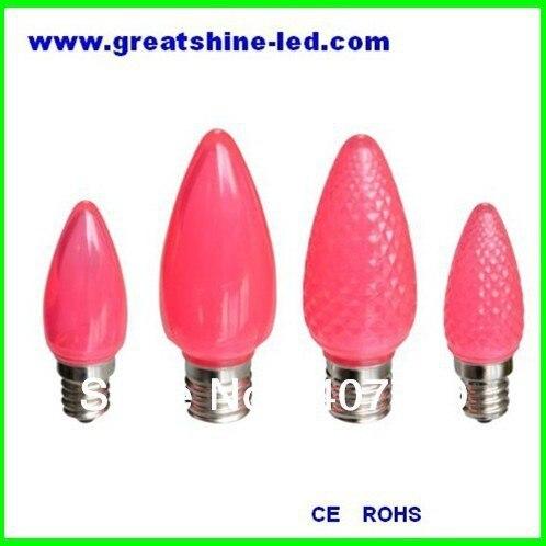 Бесплатная доставка SMD 5050 C7 новогодние светодиодные лампы Рождество привело lighs розовый цвет AC220V e12 базы, используемой для фестиваля светиль...