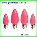 Frete grátis smd 5050 lâmpadas C7 led de natal led lighs natal rosa cor E12 base de AC220V usado para o festival iluminações