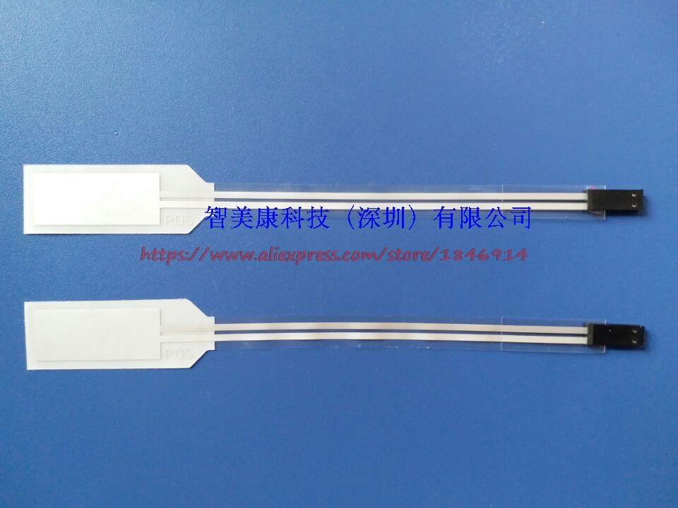 PVDF piezoelectric film vibration sensor FLDT-028K flexible vibration detection can be used for large angle bending