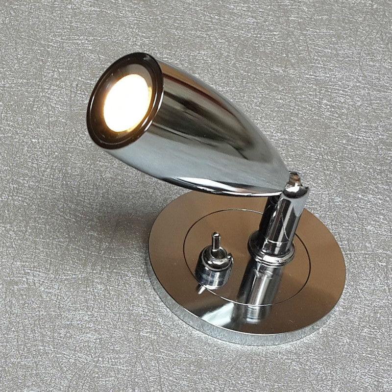 Topoch 2x zapuštěné nástěnné svítidla Nástěnné svítilny vypínač řidiče diskrétní ve zdi 3W CREE LED směrová hlava měkké světlo bez oslnění