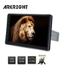 ARKRIGHT 4 + 32 ГБ 10 »1din Android 8,1 автомобиль радио Octa Core Универсальный автомобильное радио Wi-Fi HD gps BT Музыка мультимедийный плеер