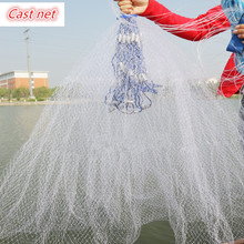 Hot Sale 2.4M-7.2M Fishing Net High Quality American Style Hand Cast Nets Small Mesh Outdoor Sport Throw Fishing Network Tool
