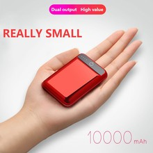 10000mAh Mini Power Bank Compact And Large Real Capacity Portable With Dual USB Fast charge Output For Mobile Phones