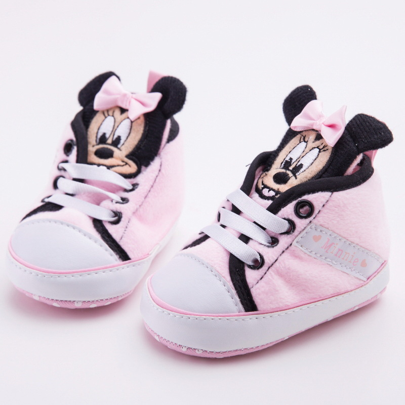 2019 New Disney Spring And Autumn And Winter New 0-1 Baby Shoes Soft Bottom Cartoon Casual Baby Shoes Girl Toddler Shoes