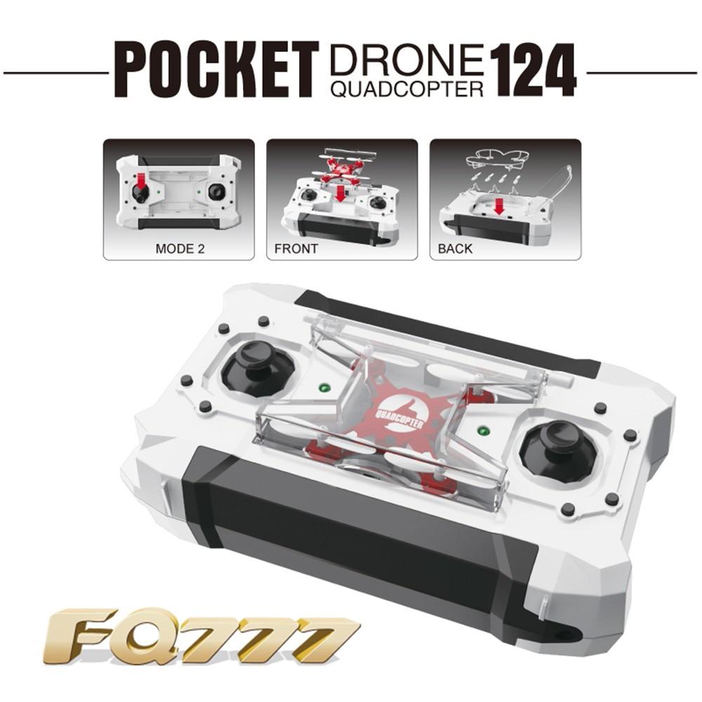 FQ777-124 FQ777 124 RC Drone Micro Pocket Drone 4CH 6 Axis Gyro Commutabile Controller Mini quadcopter RTF RC helicopter Kid giocattoli