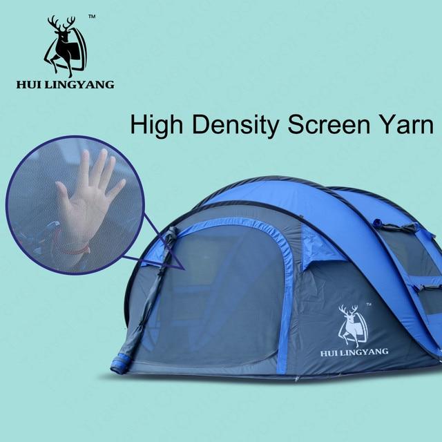 HUILINGYANG Tent Quick Open Camping 4
