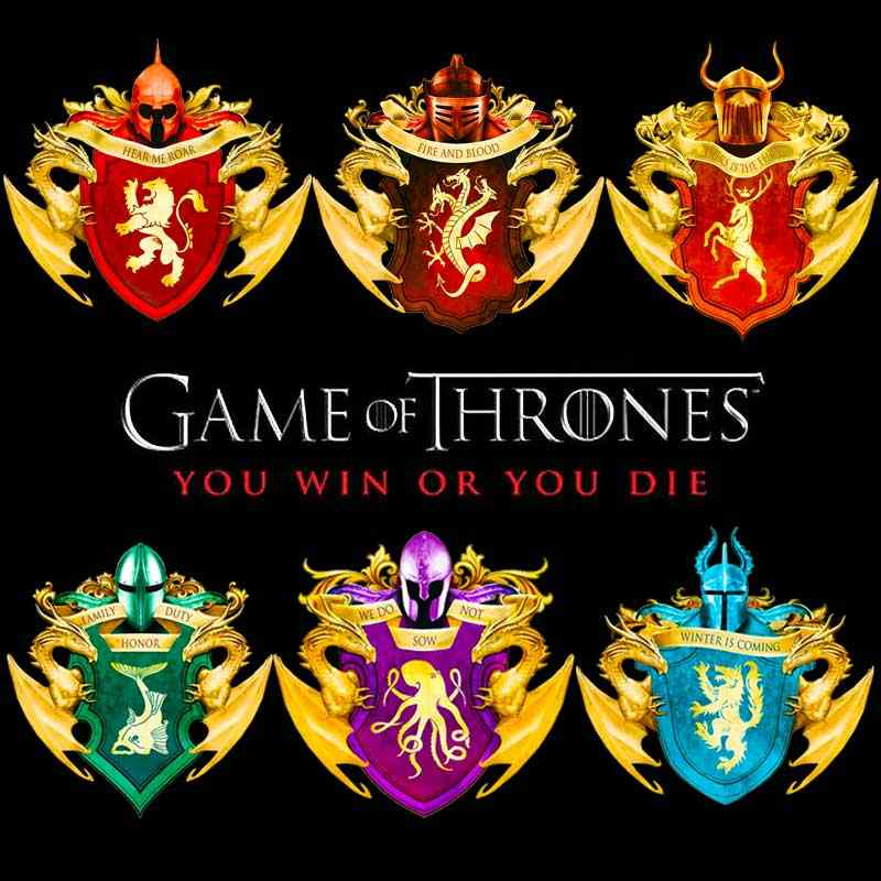 Game Of Thrones Sticker Iron On Transfer For Clothing Heat Transfers  Stickers Iron Print For Clothing Stripes On Clothes Patch F
