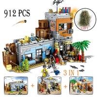 912PCS Player Unknown's Military Battlegrounds Soldiers Weapon Gun PUBG Building Blocks Kids Toys Set Compatible Legoed Army ww2