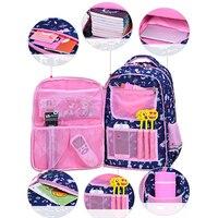 2019 подходит для 1-6 классов с цветочным принтом, школьные рюкзаки для девочек, детский ортопедический школьный рюкзак mochila infantil