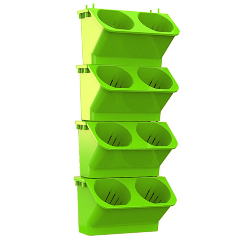 Image 1 - 2019 Garden Modular Type Plant Wall Flower Pot Vertical Wall Hanging Green Flower Pot Garden Supplies-in Flower Pots & Planters from Home & Garden