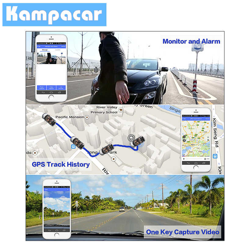 Kampacar 4G GPS Navigation 1080P Car Dvr The Registrar Car Mirror With Rear View Camera For Cars Recorder Auto Dash Cam Cameras