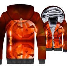 streetwear tracksuit wool liner plus sweatshirts hip-hop funny cartoon 3D print hoodies 2018 new arrival Halloween jackets coats