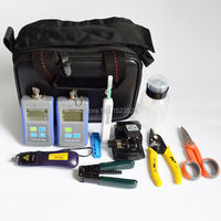 11 In 1 FTTH Fiber Optic Tool Kits With Optical Power Meter Light Source 1310 1550nm