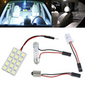 Tiptop New Arrival 15 SMD 5050 LED T10 BA9S Dome Festoon Car Interior Light Panel Lamp 12V SEP 19