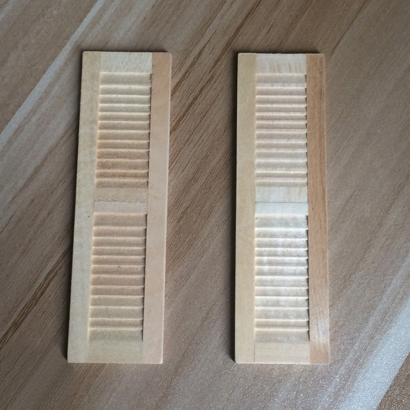 1Pair Wooden 1:12 Miniature Dollhouse Window Shutter Dollhouse ...