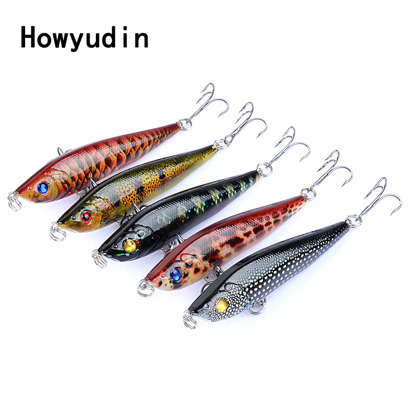 5Pcs/lot 8cm/14g fishing lure Submersed fishing wobblers fishing lures Super Far cast leurre isca artificial Pencil hard lure