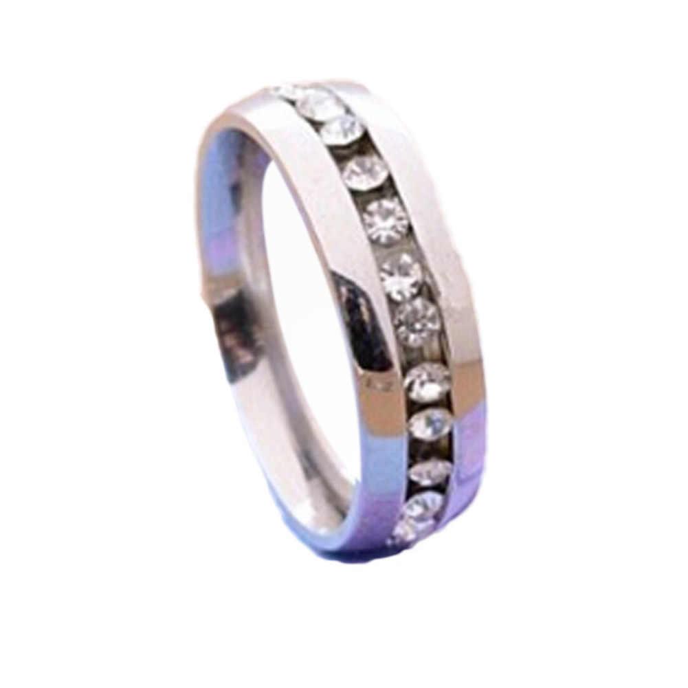 1 Piece New Single row zircon CZ nhẫn Thép Không Gỉ vòng tay phụ nữ Fine trang sức bán buôn classical
