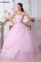 Sequined Embroidery Beaded Pink Elegant Quinceanera Dresses 2017 Sweet 16 Dresses Ball Gown Beauty Cheap Vestidos