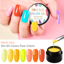 цены RBAN NAIL Glitter Shimmer Nail UV Gel Set Summer Color Gel lak Kit D Nail Art Tips UV LED Soak Off UV Gel Varnish IY Manicure