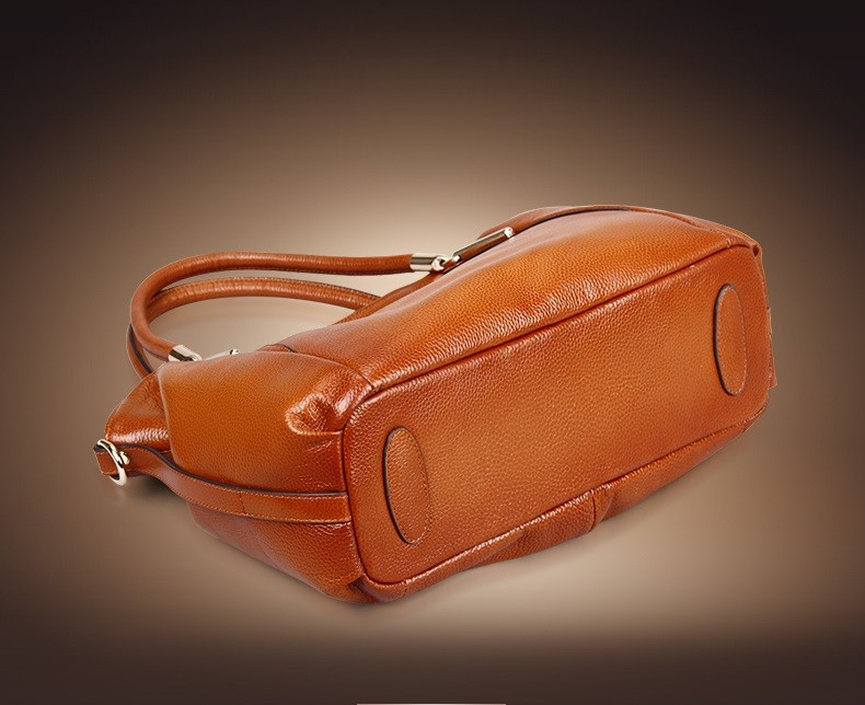 Vintage Women's Handbags Soft Genuine Leather Tote Crossbody Bag High Quality Cow Leather Shoulder Bags Female Brown Hand Bag 11