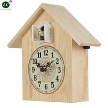 Cuckoo часы из цельного дерева Cuckoo настенные часы с птицей простые часы для гостиной Креативные Часы для спальни Cuckoo