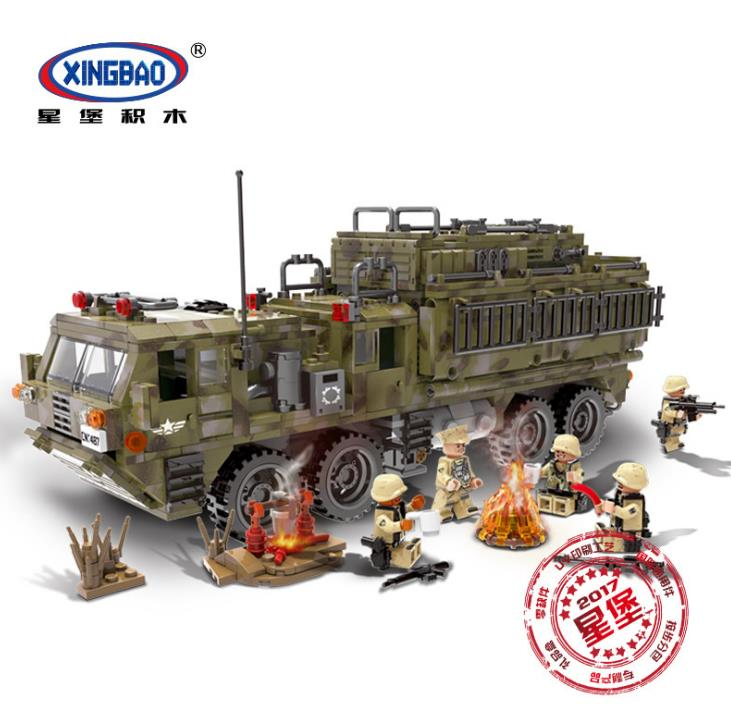 XINGBAO 06014 Genuine Military Series The Scorpion Heavy Truck Set Building Blocks 1377PCS boys DIY Brick Toys Gift for Children 8 in 1 military ship building blocks toys for boys