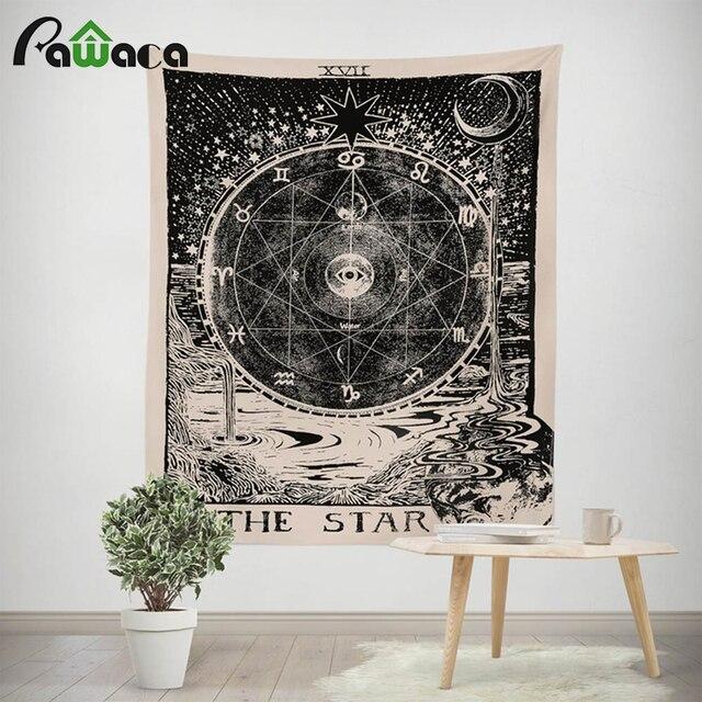Tarot Tapeçaria Tapeçaria Tapeçaria Medieval Europeu O Sol Lua Estrela Quarto Do Dormitório Da Astrologia Misterioso Tapeçaria de Parede Decoração Da Sua Casa