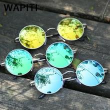 WAPITI Gothic Steampunk Sunglasses Men Women Round Mirror Retro Vintage Sunglasses Outdoor Sports Glasses UVB Rays Eyewear