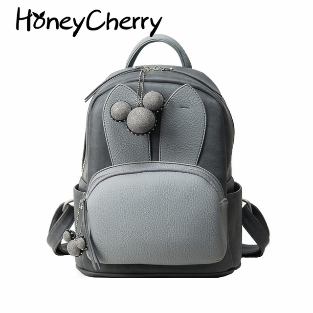 2016 Bags Winter New Cute Rabbit Ears Backpack Student Bag Korean Leisure Bag cute girl backpack