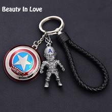 Железный человек Мстители Marvel молоток брелок Капитан Америка щит Халк Бэтмен маска для мужчин металлический брелок кулон кожа d53