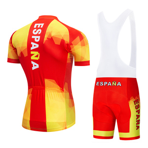 Image 2 - 2020 Summer Spain Cycling Jersey Set MTB Uniform Bicycle Clothing Bike Clothes Wear Mens Short Maillot Culotte Sports Suit