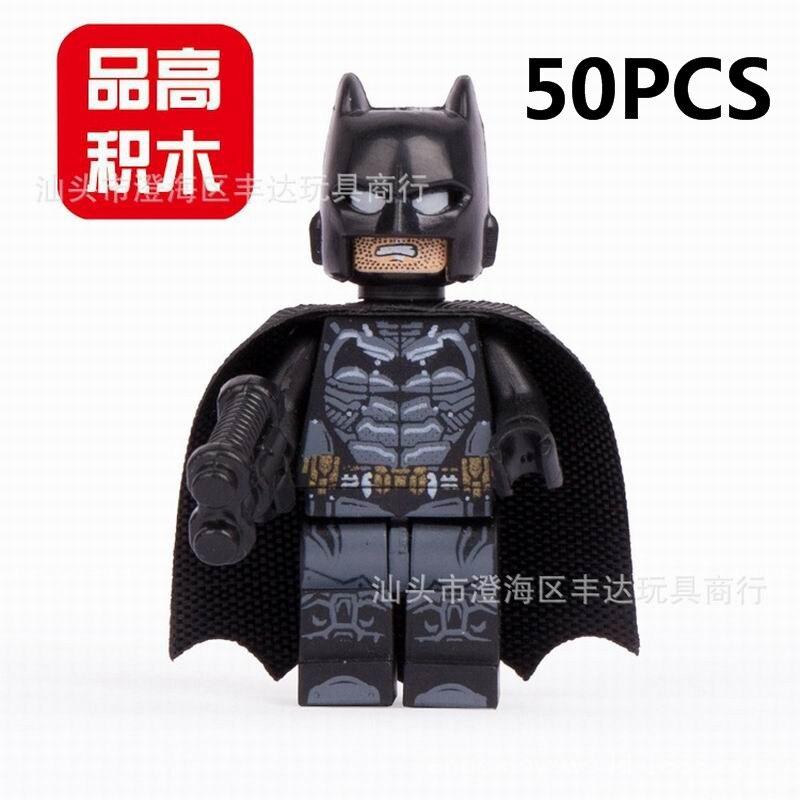 gifts Pogo Wholesale 50PCS PG001 Batman The Avengers Marvel Super Heroes Building Blocks Bricks Toys Compitable With Legoe